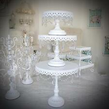 3 White Shabby Chic Birthday Cupcake Hamptons Cake Christmas Table Display Stand