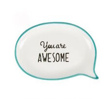 "SECONDS ""You're Awesome"" Jewellery Dish - Ring Dish - Holder - Trinket dish"