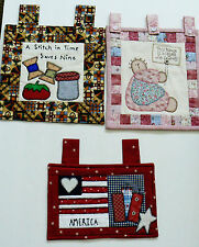 Lot of 3 Blessed House with friends America Hand crafted quilted wall hanging