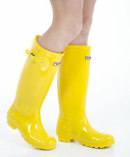 Women's Wellies - Ladies Yellow Wellington Boots - Size 6 UK - EU 39