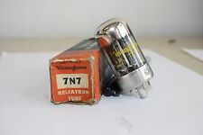 7N7 WESTINGHOUSE VINTAGE TUBE WITH BLACK PLATES - NOS IN BOX