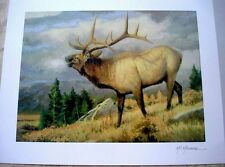 "Pat McManus ""September's Song"" Elk Seriolithograph Signed Park West Gallery COA"
