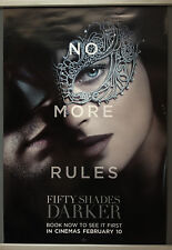 Cinema Poster: FIFTY SHADES DARKER 2017 (No More Rules One Sheet) Dakota Johnson