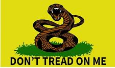 DONT TREAD ON ME ANGRY RATTLESNAKE 3'x5' feet FLAG GADSDEN TEA PARTY MILITARY