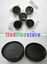 5x Rear lens and Body cap cover for Leica M LM camera Wholesale lots 5 pcs