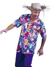 """Da Uomo Hawaiano Costume Tunica Camicia Adulti M/L 40-44"""" HOLIDAY 1st Classe Affrancatura"""