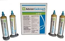 Advion Cockroach Bait Gel ( 4 30g Tubes with Plunger) Used by Proffessionals