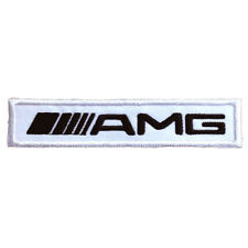 AMG Embroidered Patch Embroidery Mercedes Benz Racing Emblem Mark 105x21mm White