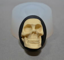 Skull silicone mould cupcake chocolate rsin fimo polymer clay goth soap wax mold