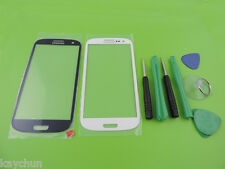 Premium Blue Front Screen Glass Lens for Samsung Galaxy SIII S3 i9300  +Tools