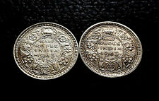 Rare KG VI Half Rupee 1943 Two Different Verity Set Very Valuable & Collectable