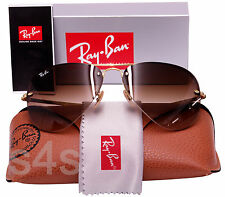 Ray Ban Rimless Aviator Sunglasses ARISTA_GRADUATED BROWN 3449 001/13 Med 59mm