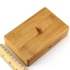 Smooth Surface 143*90*37MM Fly Fishing Box Wooden Bamboo Fly Box Storage Newest