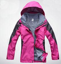 Women Lady Pink 10kmm Ski Snow Snowboard Winter Waterproof  Jacket S M L XL XXL