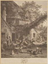 Cornelis Dusart Haarlem Bauern Wirtshaus Schänke Holland Bier Most Wein Pfeife