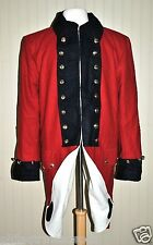 Revolutionary War British Army Frock Coat Red w/Blue Collar Cuffs - Size 48