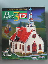 """PUZZ 3D; Country Church """"Fully Dimensional Puzzle"""""""