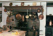 Plantation Kitchen, Louisiana, Fire Place, Pots and Pans, Ladle etc. -- Postcard