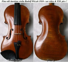 FINE OLD AUSTRIAN MASTER VIOLIN Wilczek 1910 - video- ANTIQUE バイオリン скрипка 813