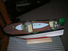 TOY WOOD BOAT  TOY OUTBOARD MOTOR  ITO RUNNER TYPE B VINTAGE WOODEN  BATTERY OP.
