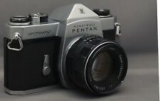 ASAHI PENTAX SPOTMATIC Honeywell 35mm FILM Camera SMC Takumar M42 f/2 55mm Lens