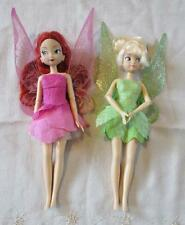 Disney Fairies Plastic Tinkerbell & Rosetta doll approx 12 inches tall