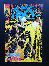 D7, marvel Comics # 2 May, Black Axe, P/B GC Black Axe In japan Sunfire
