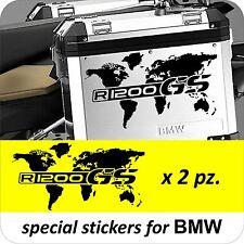 2 Adesivi Stickers Planisfero BMW R 1200 1150 1100 gs valigie adventure R GS