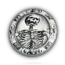 Badge SQUELETTE Os Bones skull death tete de mort punk rock rockabilly Ø25mm