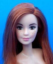 2017 Barbie Pretty Nude Doll Red Hair Freckles Brown Eyes Lea Face For OOAK