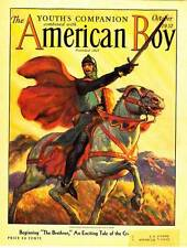 AMERICAN BOY October 1932 magazine - W.F. Soare cover, H. Rider Haggard