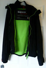 Superdry Windcheater Size M Green Coat w/ Hood