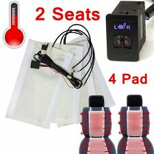 2 Seat Universal Car 2-Dial Switch 5-Level Carbon Fiber Heated Seat Heater Pad