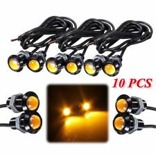 10x 3W 18mm LED Eagle Eye Amber Daytime Running DRL Light Tail Car Motor Backup