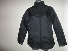 BNWOT Age 12-13 Unisex Black Padded Coat With Concealed Hood RRP £39