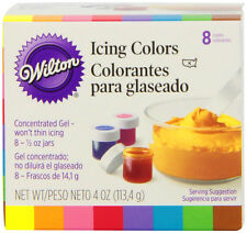 Set of 8 Icing Gel Colors For Cake Cupcake Decorating, Fondant  Frosting, 1/2oz