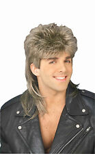 Frosted Mullet Wig 80's Party Hillbilly Redneck Joe Dirt Adult Size