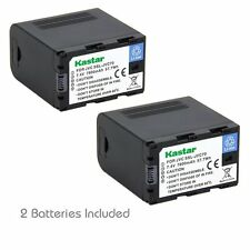 2x Kastar Battery for JVC SSL-JVC70 GY-HMQ10 LS300 HM200 HM600 HM600EC HM650