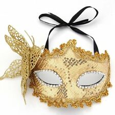 Mask Masquerade Costume Prop Yellow Fancy Dress Ball Party Xmas YM