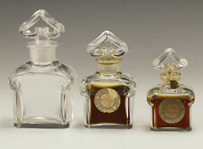3pc Baccarat Guerlain L Heure Bleue Crystal Perfume Bottles Flacon