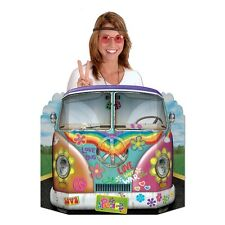 Hippie Camper Van Bus Photo Prop - 94 x 64cm - Sixties Party Decortaion Cutouts