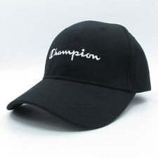 Champion Baseball Cap Black Hat Outdoor Sunhat Tennis Golf Sports New 81