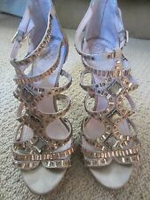 WOMENS VINCE CAMUTO CRISTA CRYSTAL SATIN BLING DRESS SANDAL HIGH HEELS SIZE 8