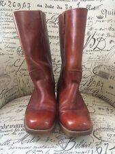 VTG Woman's Dingo Boots SZ 10.5 D Campus Mahogany Red Slip-On USA Grunge GUC