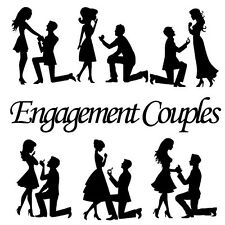 Die Cut Out Silhouette Couples x 12 Romance, Valentines, Weddings, Engagement