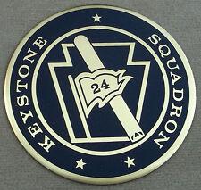 US Navy Keystone Squadron 24 Self Adhesive Metal Emblem Decal / Sticker