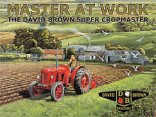 Classic Tractor, David Brown, Ploughing Work, Farm Old, Large Metal/Tin Sign