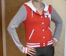BNWT H&M Varsity Jacket Hoodie Cardigan Red Grey & White Baseball 8 Sweatshirt
