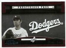 2005 PLAYOFF PRESTIGE PRESTIGIOUS PROS RED #PP49 Hideo Nomo #166/700
