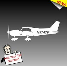 PA 28 Cherokee 140 with N Number Decal Piper 140 Aircraft Pilot Sticker